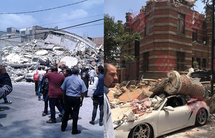 México: Dos fuertes sismos de 6,8 y 7,1 sacudieron al país