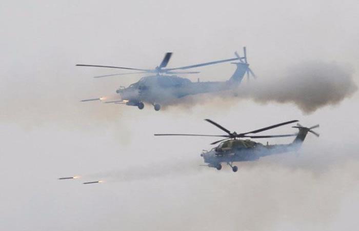 Rusia: Helicóptero disparó al público durante un entrenamiento militar