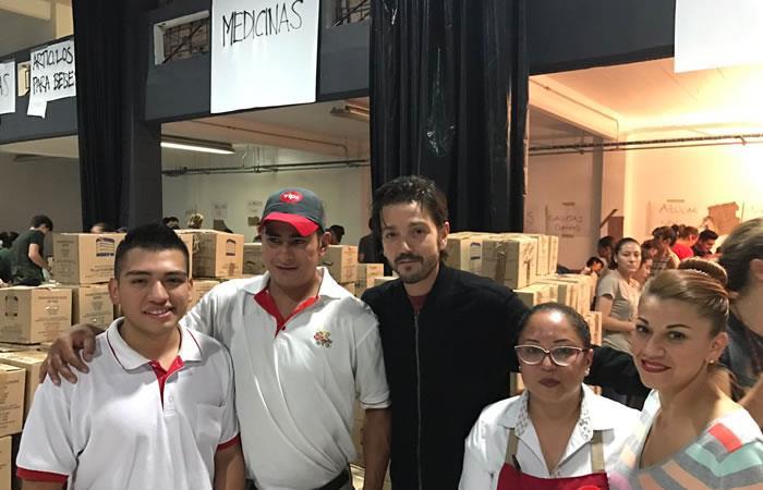 México: Set de cine es transformado por Diego Luna como centro de ayuda