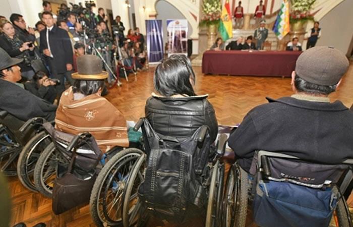 Evo Morales: Esta será la ayuda para personas con discapacidad