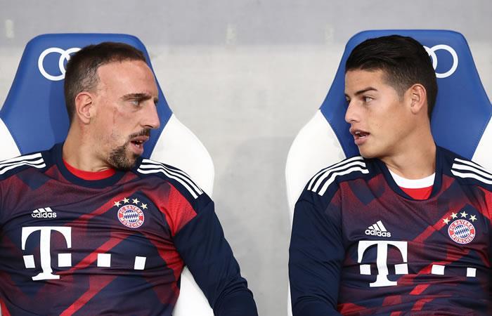 Bayern Múnich confirmó la lesión de Ribéry ¿Oportunidad para James?