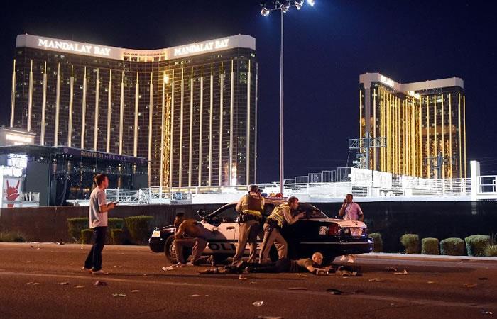 Las Vegas: Momento cuando el cantante Jason Aldean abandona el escenario