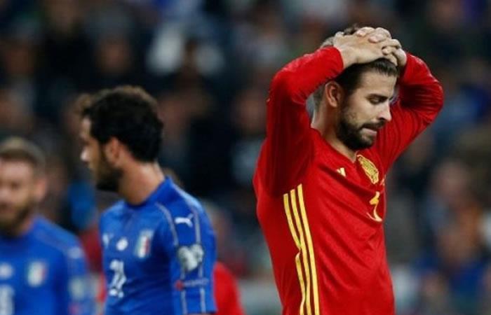 Piqué en medio de insultos con la selección española