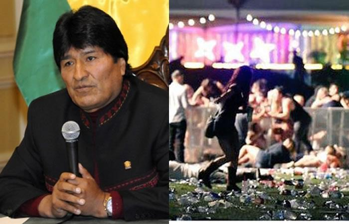 Evo Morales y el conmovedor mensaje a las víctimas del tiroteo en Las Vegas