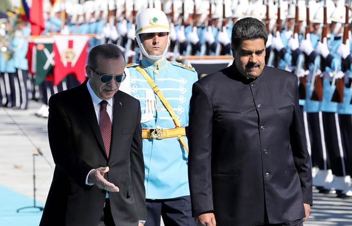 Maduro y Erdogan acuerdan una