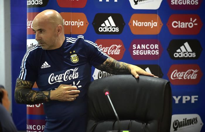 Jorge Sampaoli, entrenador del equipo nacional de fútbol argentino. Foto. AFP