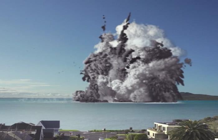 Nueva Zelanda: Aterradora erupción de un volcán destruye toda una ciudad