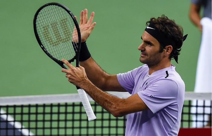 Roger Federer llega a cuartos de final del Torneo de Shanghái