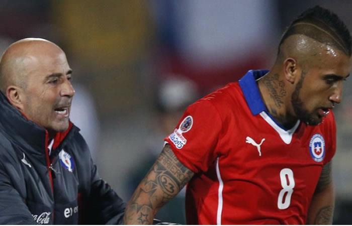 "Jorge Sampaoli: ""A Arturo Vidal le gusta tomar y no se controla"""