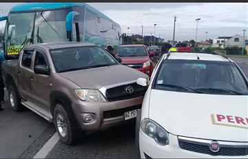 Policía busca a chofer que provocó múltiple colisión en La Paz