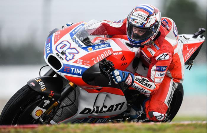 Dovizioso fue el más rápido en los primeros ensayos de MotoGP en Malasia
