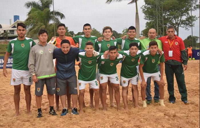 Bolivia ya conoce sus rivales para el Sudamericano sub 20 de Fútbol Playa