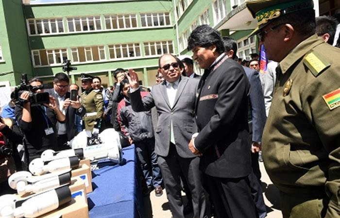 Evo Morales inauguró Estación Policial Integral en Potosí