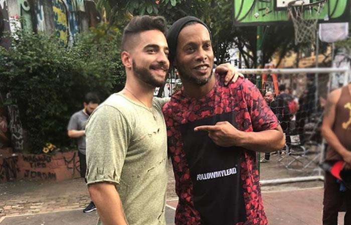Ronaldinho el nuevo protagonista del próximo videoclip de Maluma
