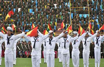 Presidente inaugura II Juegos deportivos militares de las FFAA en Quillacollo