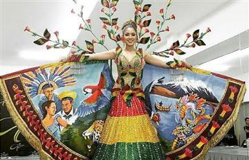 Bolivia, uno de los trajes típicos más llamativos en Miss Universo