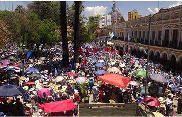 Evo Morales: Multitudinaria concentración respalda su repostulación en Tarija