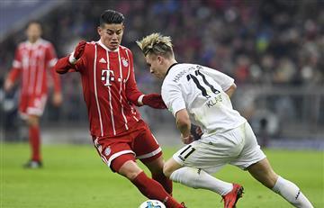 James Rodríguez titular en la victoria del Bayern
