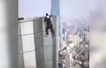 Youtuber chino filmó su propia muerte al caer de un piso 62