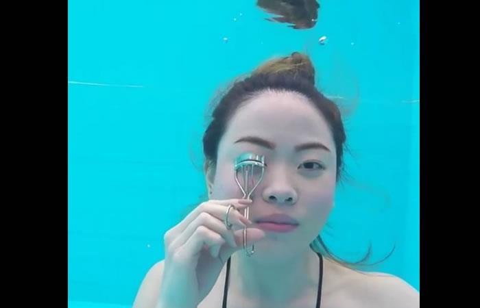 Instagram: Maquillaje bajo el agua, el nuevo reto de belleza