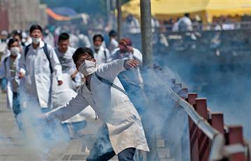 Médicos bloquean vías y obstruyen los caminos en Puerto Paila