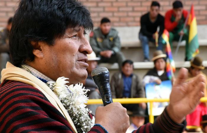 Evo Morales y su crítica a los médicos que están en paro