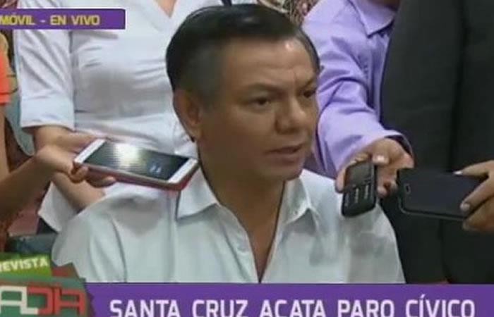 Reportan paro cívico en Santa Cruz y piden respetar 21F y CPE