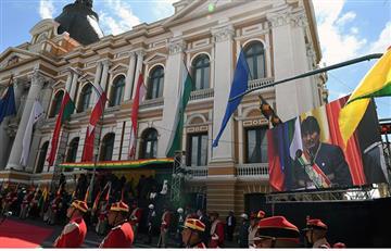 Así celebraron los bolivianos el día del Estado Plurinacional en Plaza Murillo