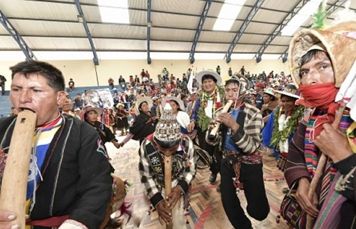 Evo Morales insta a pueblos indígenas a preservar su riqueza cultural