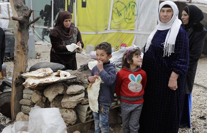Refugiados sirios. Foto: AFP