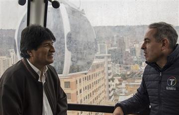 Evo Morales, sorprendido con líneas Celeste y Blanca del teleférico