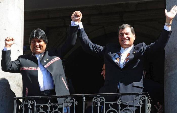 El presidente de Bolivia se solidariza con Correa tras el asedio en su país. Foto: AFP