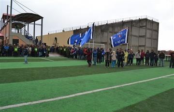 Evo Morales inaugura complejo deportivo en Oruro