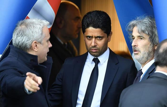 El presidente del PSG, Nasser Al-Khelaifi. Foto: AFP