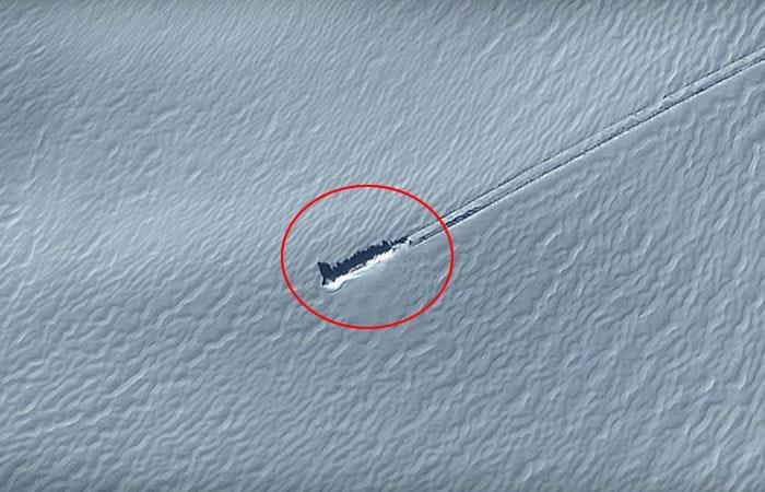 Video: Aseguran que encuentran una nave alienígena en la Antártida