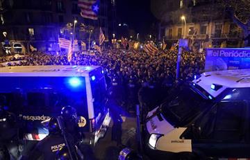 Golpe judicial contra cúpula independentista genera protestas en Cataluña