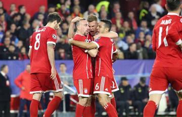 James Rodríguez y el Bayern se imponen ante el Sevilla