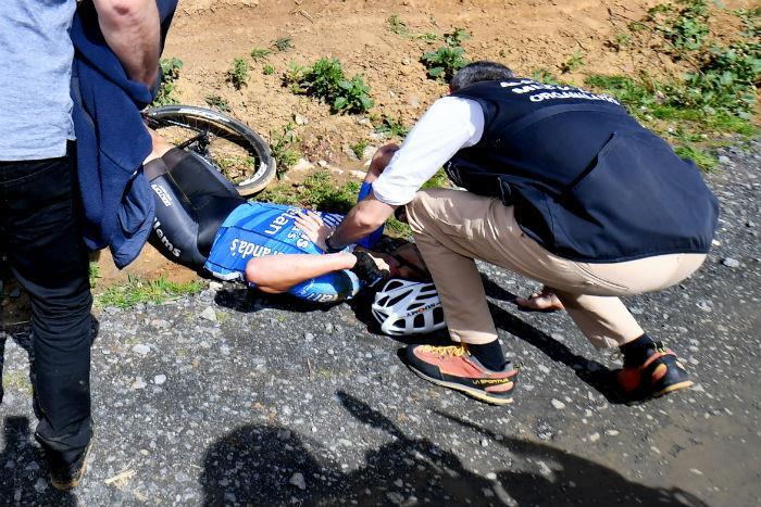 El ciclista Michael Goolaerts en estado crítico