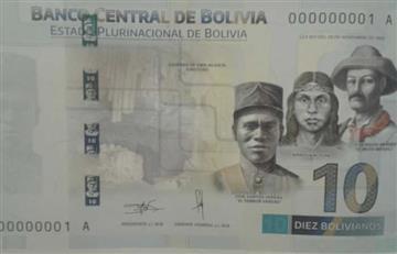 Bolivia ensalza héroes patrios en nuevos billetes del Estado