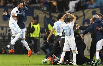 Marsella dio la vuelta al marcador y goleó 5-2 al Leipzig