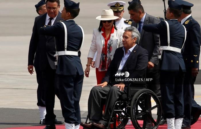 El Presidente de Ecuador, Lenin Moreno. Foto: AFP