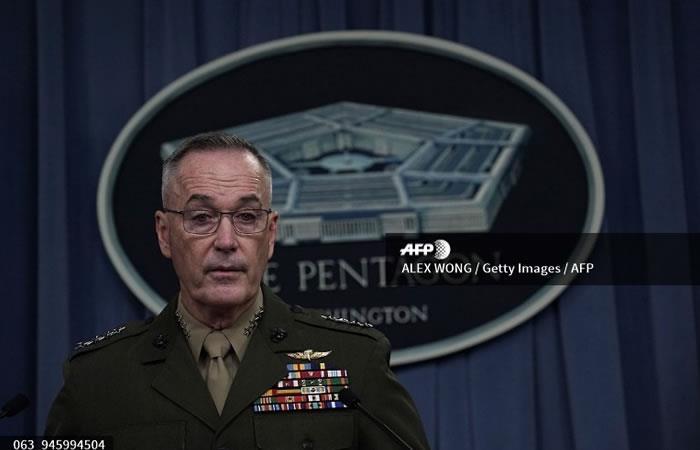 El jefe del Estado Mayor conjunto general Joseph Dunford. Foto: AFP