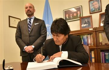 Bolivia firma tratado que prohíbe armas nucleares y convención sobre arbitrajes