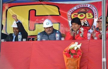 Evo pide a la COB unidad y reflexión en sus 66 años de creación