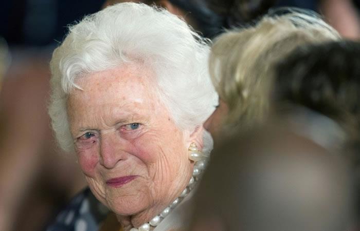 La ex primera dama de Estados Unidos Barbara Bush. Foto. AFP.