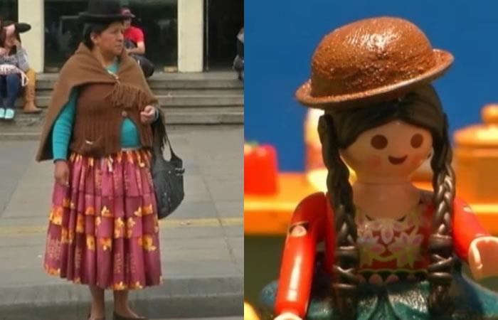 La 'cholita' boliviana llega a las populares figuras de Playmobil