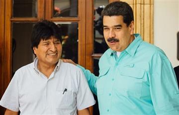 Evo Morales saluda a Maduro por cinco años en la presidencia