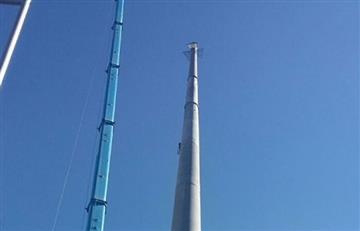 Culmina el montaje de la torre más alta del teleférico que mide 62 metros