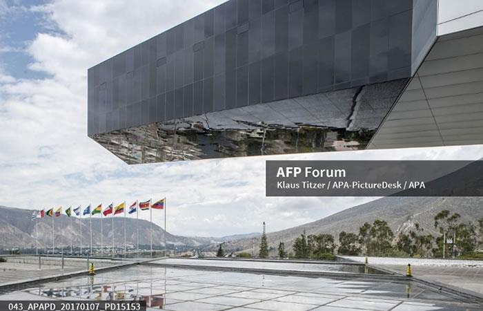 Sede de la Unión de Naciones Suramericanas llamada UNASUR en San Antonio de Pichincha. Foto. AFP.