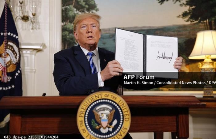 Trump no cumplirá con lo pactado sobre la política nuclear con Irán